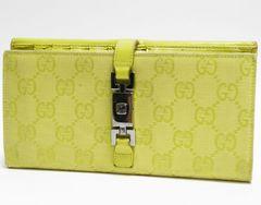 GUCCI グッチ 二つ折り長財布 ジャッキー GG 黄色 035・3661