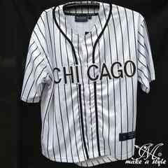 訳あり品 MLBシカゴ ホワイトソックス  ベースボールシャツM 46