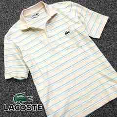 美品!! LACOSTE ラコステ メンズ 半袖ポロシャツ W80
