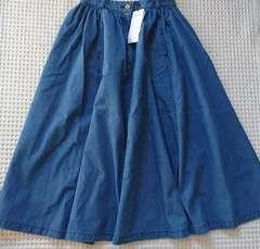 ♪新品moussyデニムマキシスカート♪1