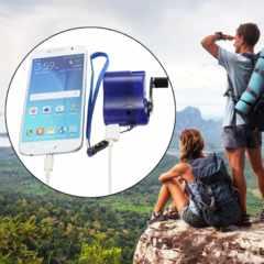 ★ポータブル手動クランク緊急ダイナモ充電器携帯電話モバイル