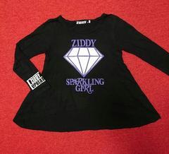 140�p/ZlDDY ジディー/プリント長袖Tシャツ/ブラック
