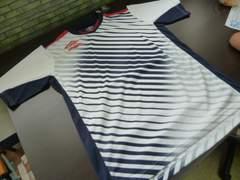 送料込(XO 白紺WNV)アンブロ umbro★UBS7626 半袖プラシャツ セカンダリーシャツ