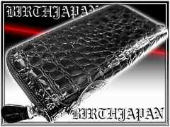 a2160d66cd91 SOLD OUT オラオラ系お兄系エナメルクロコ長財布7黒/メンエグホストサーフ