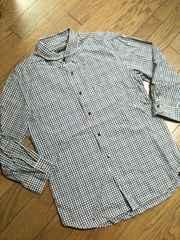 美品BOYCOTT 7分丈チェックシャツ ボイコット