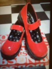 新品 レディースシューズ 靴 くつ レッド 赤 24.5�p