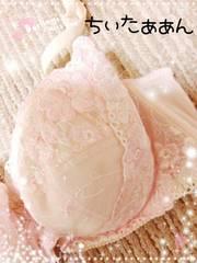ピンク花柄刺繍ブラ/C80/難有
