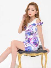 新品☆デコルテ肩出し胸フリル花柄タイトミニドレス¥5990+税デイジーストアLサイズ