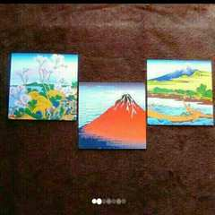 葛飾北斎 アートペーパー 3枚セット 版画絵画インテリアオブジェ