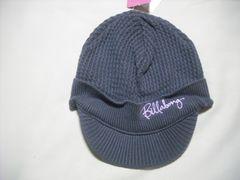 wb147 女 BILLABONG ビラボン つば付き ニット帽 グレー