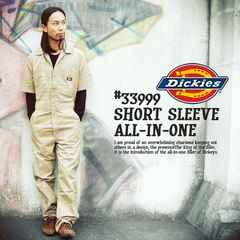 ad0121bsm■DICKIES Short Sleeve COVERALLS (33999) Lカ