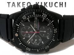 良品【1点もの】タケオキクチ【クロノグラフ】メンズ腕時計
