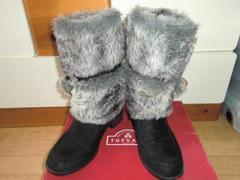 セールモコモコファーボンボン使いキュートで暖かいブーツM美品