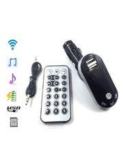 高音質 Bluetooth FMトランスミッタ ハンズフリースマホ二台充電