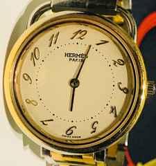 良品エルメスクリッパーアルソーレディース時計コンビ稼働品
