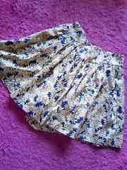ローリーズファームボタニカル爽やか花柄ふんわりスカートみたいなキュロット