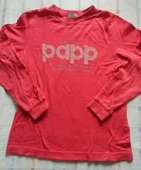 papp ♪赤ロゴ長袖シャツ♪130�p