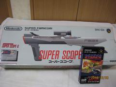新品スーパースコープと専用カセット(スペースバズーカー)