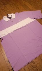 小訳 FARSCAPE 半袖カノコポロシャツ 紫白 2XL XXL 大きいサイズ �B�@