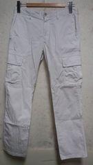 UNIQL0カーゴパンツ78cmホワイト