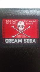 即決有レアクリームソーダ旧白ドクロタグ黒色無地長財布creamsodaピンクドラゴン