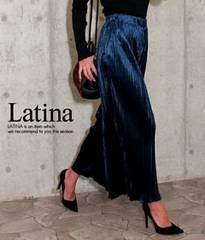 anap Latina ベロア プリーツ ワイドパンツ