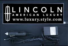 光るプレート リンカーン ラグEL発光ブルー