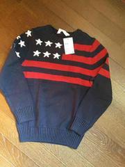 H&M☆星条旗柄綿ニットセーター・新品