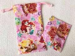 ディズニープリンセス・ミニ巾着袋とティッシュケース