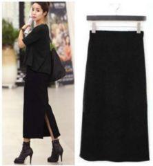 新品【5912】(大きいサイズ3L)黒シンプルラインスカート