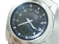 8288/CASIOカシオ★ウェーブセプター/タフソーラーWVA-400J電波時計メンズ腕時計