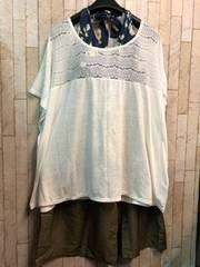 新品☆8L大きいサイズTシャツ付き水着セット♪☆b387