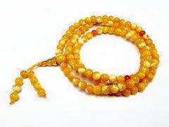 レア品3Aゴールデンマザーオブパール108粒長数珠