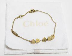 Chloe クロエ ブレスレット ハート&ロゴ ゴールドカラー