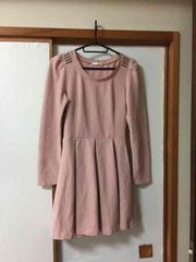 N034/G.U/Sサイズ/ピンク/ミニワンピ/