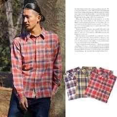 ダブルガーゼチェックシャツMサイズ赤のみ◆キスマイサロン