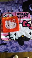キティちゃんの可愛ぃハンカチ�A個セット新品未使用☆赤☆ピンク
