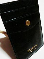 新品ゴールドファイル/GOLD PF革製定期入れパスケース黒