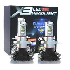 12V専用LED ヘッドライトコンパクト型 H4タイプ Hi/Lo切替