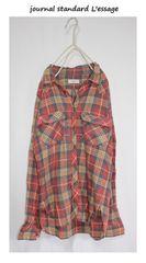 ジャーナルスタンダードレサージュ*journal standard L'essageチェックシャツ