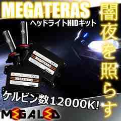 超LED】ステージアM35系前期ハロゲン仕様車/ヘッドライトHIDキット/H1/12000K