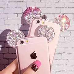 iphone 7、6 6 sラインストーンミッキーマウスケース