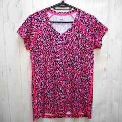アンダーアーマー Vネック プリント 半袖Tシャツ M ピンク