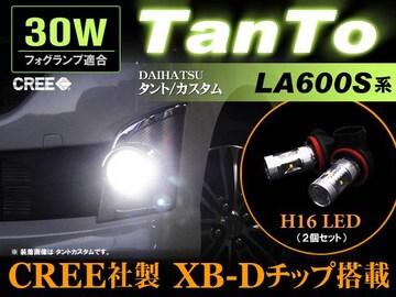 TANTO カスタム LA600 フォグランプ CREE LED 30W効率 H16 2