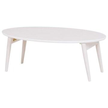 折れ脚テーブル(ホワイトウォッシュ) MT-6925WS