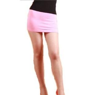 E5 超マイクロミニスカート 薄ピンク 膝上25cm 送料込