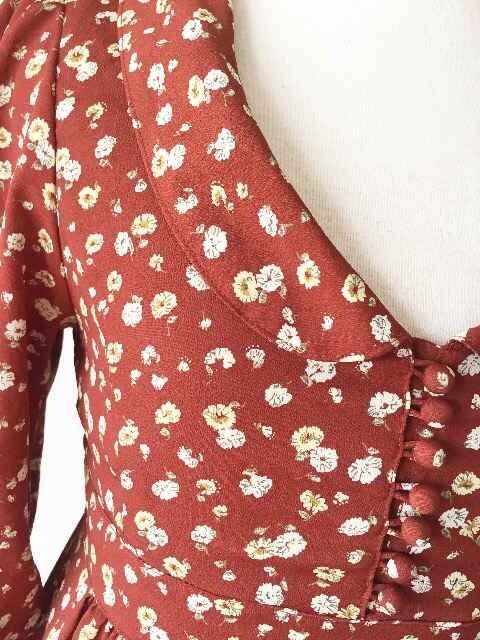 [ダズリン]★花柄・八分袖ワンピース・サイズ[S]★ < ブランドの