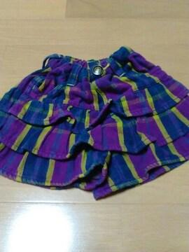 Size90cm/F .O. KIDS /スカート風短パン/年中素材//