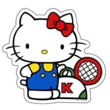 【キティ】可愛いレトロ 70s♪テニス ステッカー