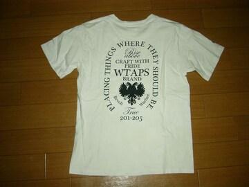 WTAPSダブルタップスTシャツS白BULL INKエンブレム